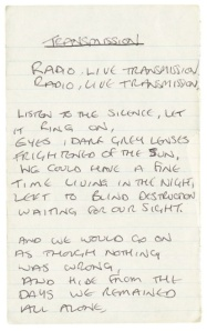 Ian Curtis lyrics from So This is Permanence, Lyrics and Notebooks.